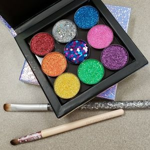 NWT 9 Pressed High Pigment Glitter Makeup